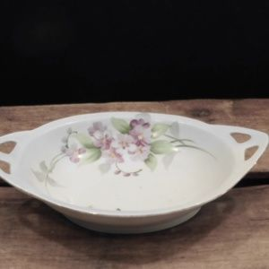 Vintage Mieto China Dish Handpainted Flowe…